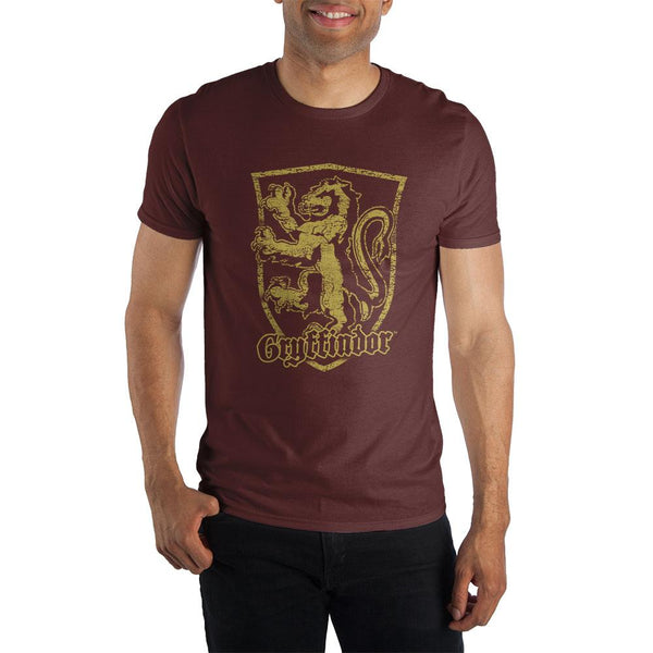 Harry Potter Gryffindor Logo Men's Burgundy T-Shirt - Nerd Gear Lab