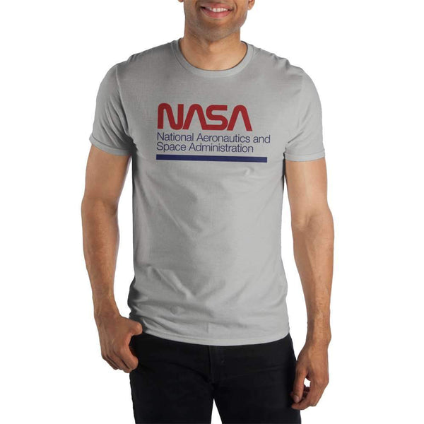 NASA National Aeronatics And Space Administration Men's Gray T-Shirt - Nerd Gear Lab