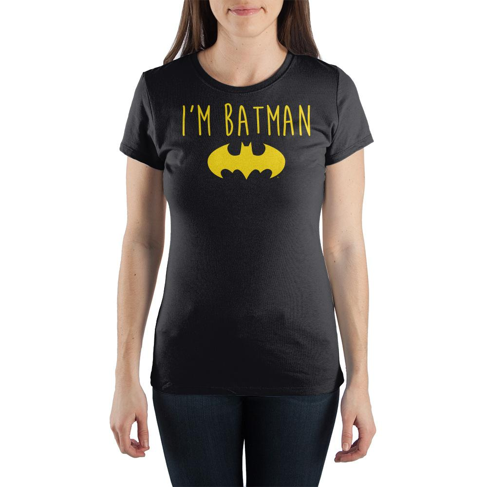DC Comics Batman Yellow Bat I'm Batman Women's T-Shirt - Nerd Gear Lab