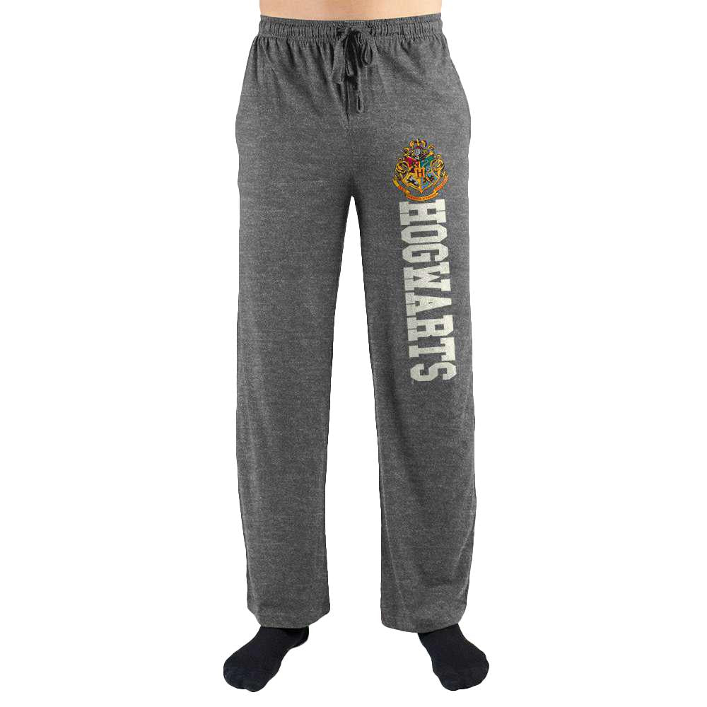 Harry Potter Hogwarts School Crest Print Men's Lounge Pants - Nerd Gear Lab