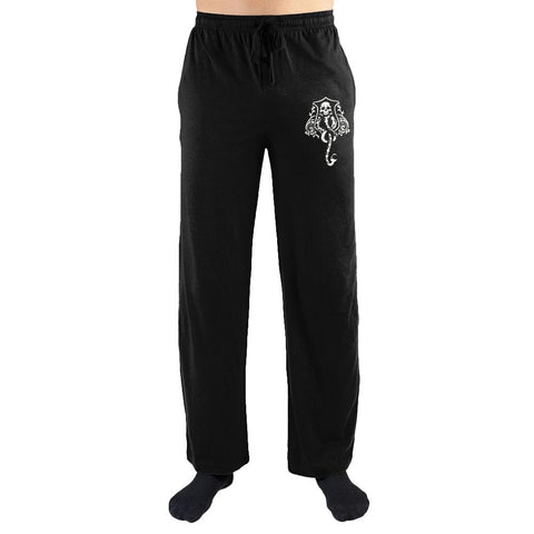 Harry Potter The Dark Arts Crest Print Men's Loungewear Lounge Pants - Nerd Gear Lab