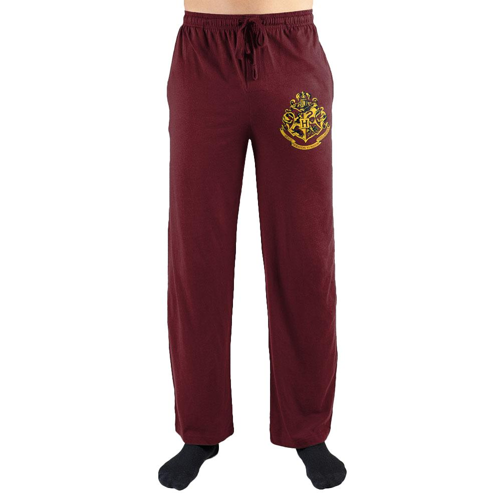 Harry Potter Hogwarts Crest Draco Dormiens Nunquam Titillandus Men's Lounge Pants - Nerd Gear Lab