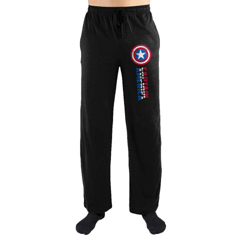 Marvel Comics Captain America Shield Print Men's Lounge Pants - Nerd Gear Lab
