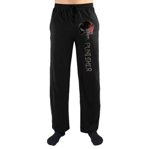 Marvel Comics The Punisher Gray Skull Print Men's Lounge Pants - Nerd Gear Lab