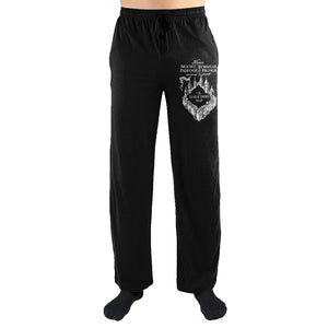 Harry Potter Messrs Moony Wormtail Padfoot And Prongs Marauders Map Print Men's Loungewear Lounge Pants - Nerd Gear Lab
