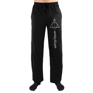 Harry Potter The Deathly Hallows Symbol Print Men's Lounge Pants - Nerd Gear Lab