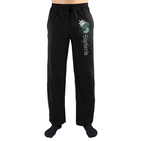 Harry Potter S Slytherin Logo Print Men's Lounge Pants - Nerd Gear Lab