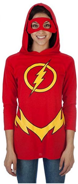 DC Comics Flash Women's Hooded Raglan - Nerd Gear Lab