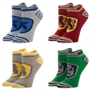 Harry Potter Crests Juniors Ankle Socks 4 Pack - Nerd Gear Lab