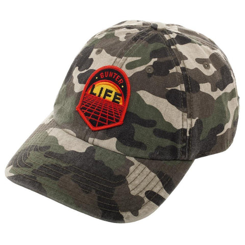 Camouflage Gunter Life Dad Hat, Single Patch Design on Adjustable Cap, Gamer Dad Gift - Nerd Gear Lab