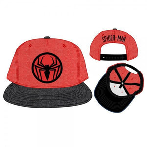Spiderman Two Tone Cationic Red and Black Snapback - Nerd Gear Lab