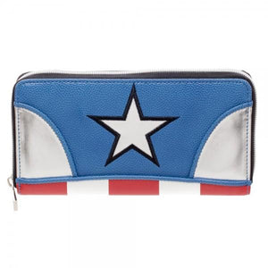 Marvel Captain America Juniors Zip Around Wallet-Nerd Gear Lab