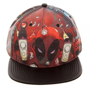 Marvel Deadpool Printed PU Snapback - Nerd Gear Lab