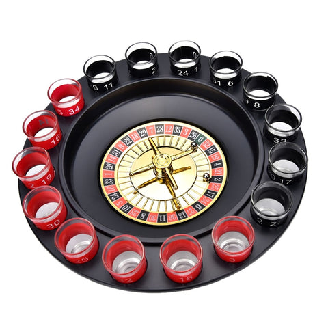 Creative Novelty Roulette Set  With 16 Shot Glasses - Nerd Gear Lab