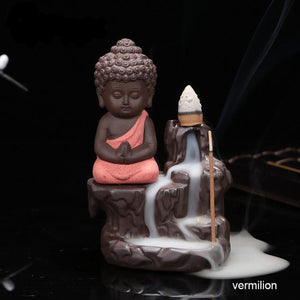 1pc The Little Monk Small Buddha Backflow Incense Burner - Nerd Gear Lab