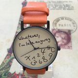 Funky 'Whatever, I am late anyway' Watch