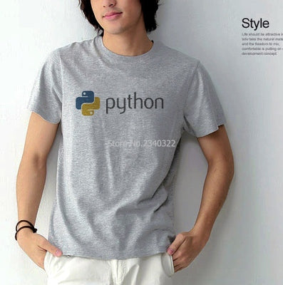 IT network programming python programmers short-sleeved cotton T-shirt