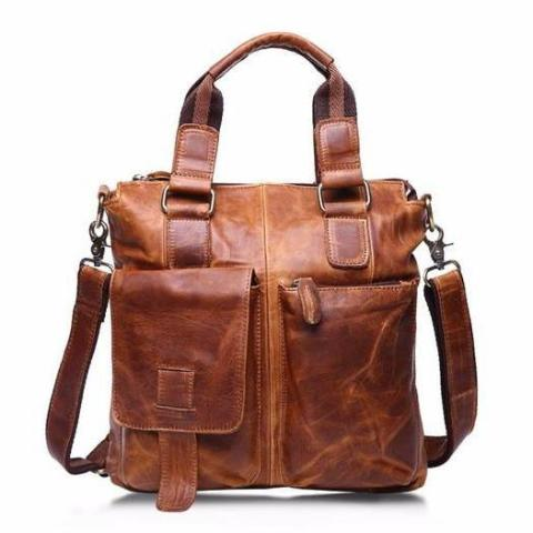 Genuine 100% Real Leather Vintage Formal Messenger Bag