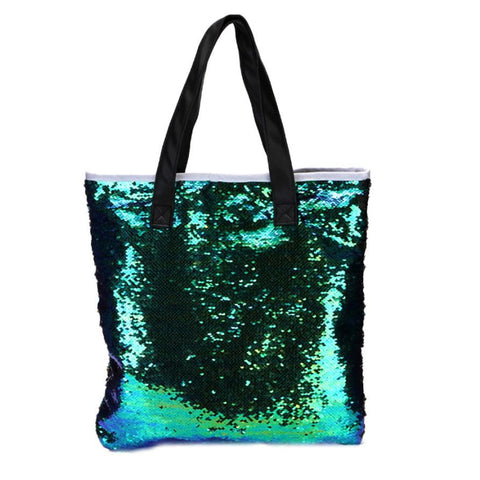 Ladies hand bags Double Color Sequins Shoulder Bags Tote Bag