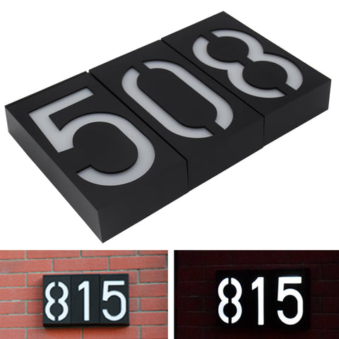 Solar Powered Wall Mount 6 LED Bulb Lamp Illumination Doorplate Lamp House Number Porch Lights With Solar Battery