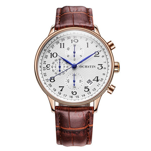 Gentleman's Watch with Chronograph, Stainless Steel, Date & Waterproof features