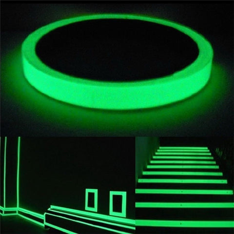 Luminous Tape Self-adhesive Photoluminescent Night Vision Glow In Dark Wall Sticker Safety Warning for Stairs and House