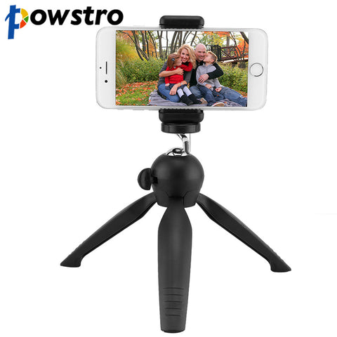 Powstro Mini Tripod with Phone Holder Mount Tabletop Tripod Portable Camera Phone Tabletop Support Travel Tripod