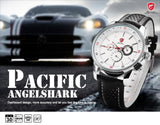 Pacific Angel Shark Sport Watch Men's White Date Day Fashion