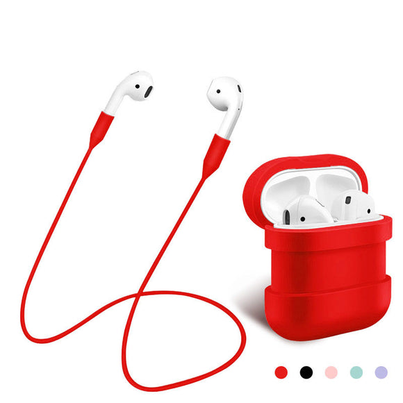 Apple AirPods Case Silicone Shock & Strap for Apple AirPods Silicone Ear Loop Anti Lost