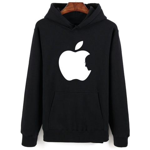 New Arrival Apple Print Winter Autumn Punk Hoodie Men in Steven Jobs Mens Hoodies and Sweatshirts Oversized 3XL