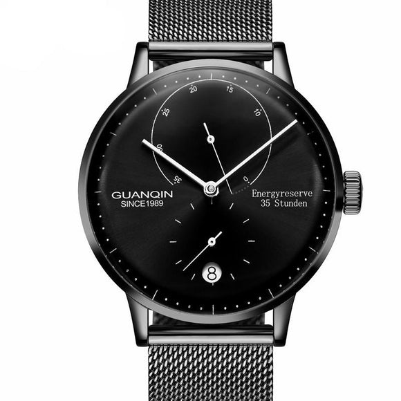 GUANQIN Top Brand Luxury Men Minimal Business Watch