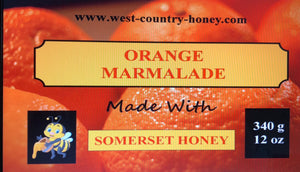 1 x 340 g /12 oz Orange Marmalade made with Honey