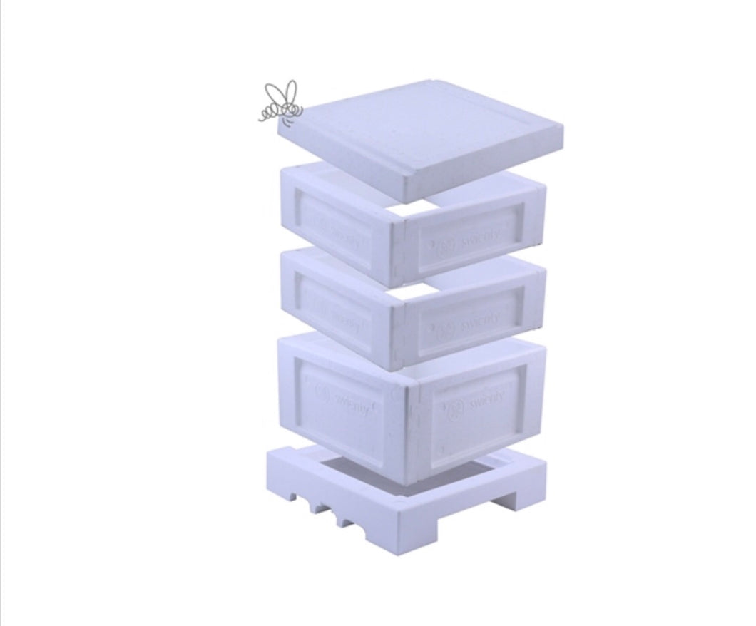 Swienty National polystyrene Complete Beehive With Buckfast Bees