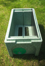 National 2 in 1 poly Nuc Box complete with assembled Brood frames & Wax