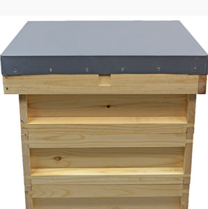 2021 Complete National Pine Beehive with bees (Deposit £100)
