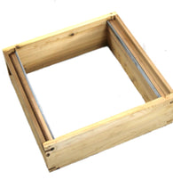 Assembled National Super box In Cedar with assembled frames and wax foundation