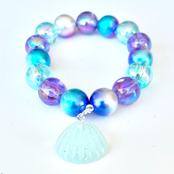 Beaded Bracelet Matching Blue Mermaid Necklace