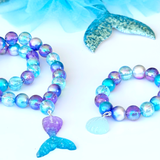 Blue Mermaid Tail Beaded Necklace