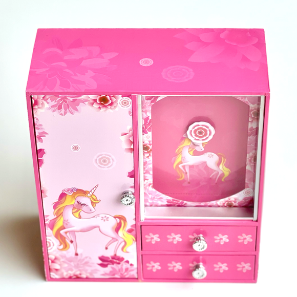 Unicorn Musical Wardrobe Jewellery Box