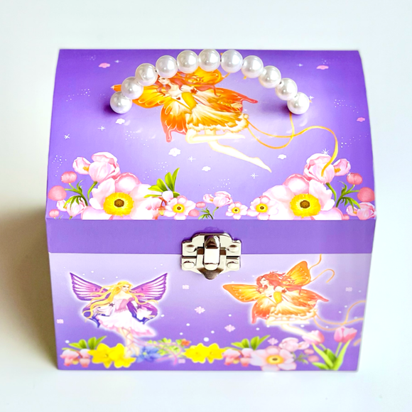 Fairy Musical Jewellery Box with Pearl Handle