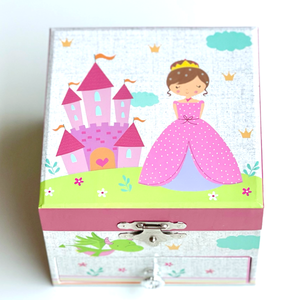 Princess Musical Jewellery Box with Draw