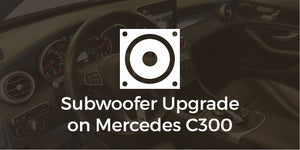 Mercedes C300 (W205) Subwoofer install