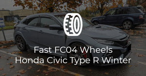 Fast FC04 Wheels on Honda Civic Type R Winter Package