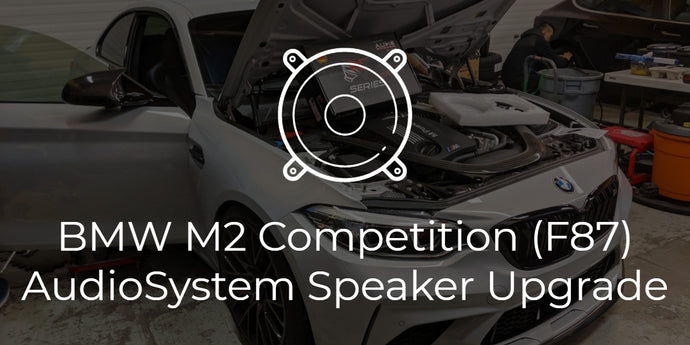BMW F87 M2 Competition Audio System 3-Way Speaker Upgrade