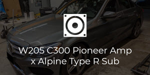 W205 C300 Pioneer/Alpine Amplifier and Subwoofer