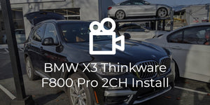 BMW X3 (G01) Thinkware F800 Pro On-Site Install