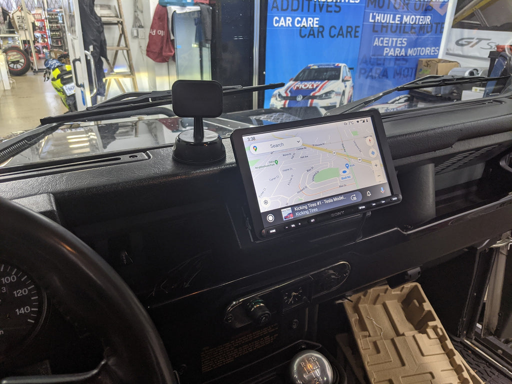 Land rover defender 90 apple carplay android auto
