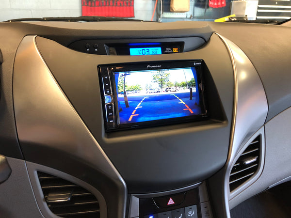 Hyundai Elantra double din back up camera