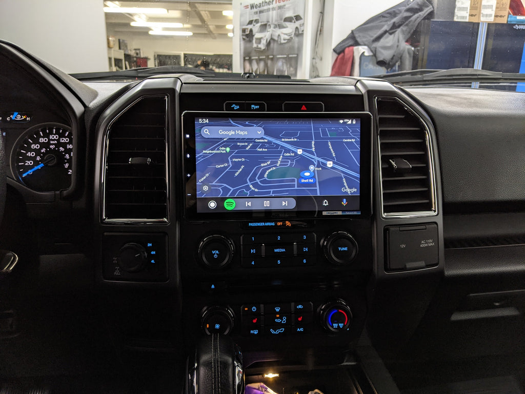 Google maps android auto double din f150