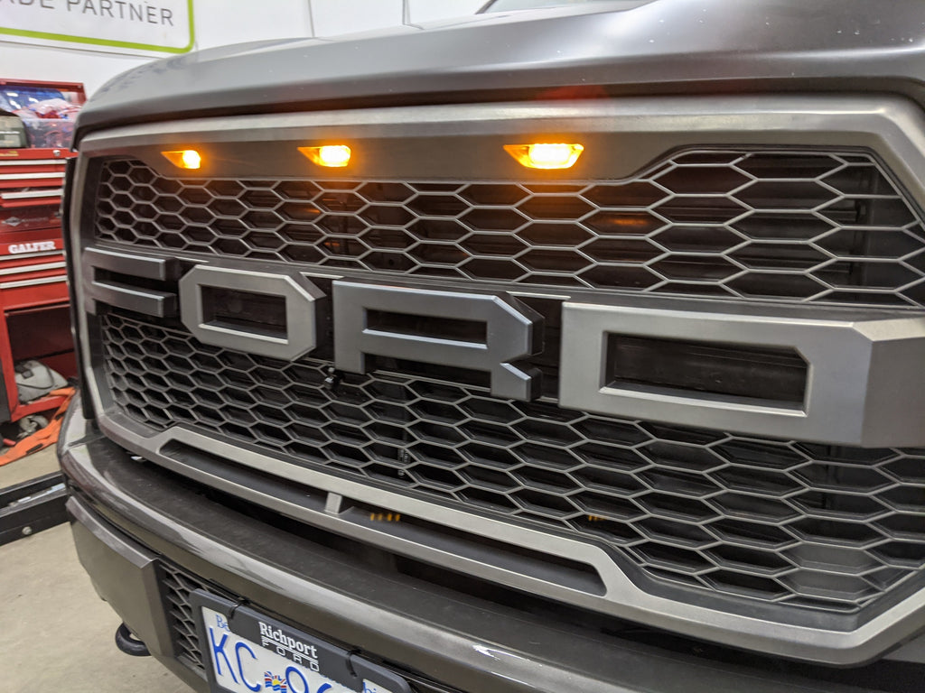 Ford F-150 front facing camera install